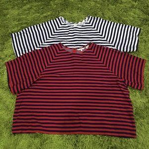 Levi's Miranda Crewneck T-shirt x 2 Women's XL